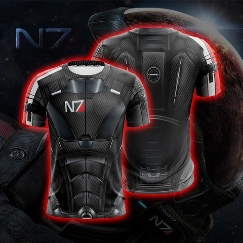 Image of Mass Effect 3 Andromeda Cosplay Unisex 3D T-shirt