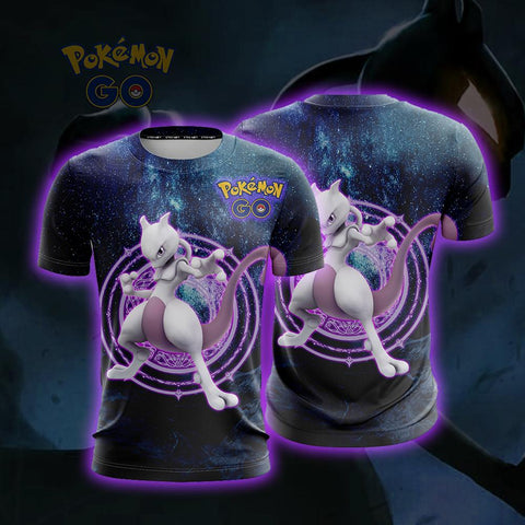 Image of Mewtwo Pokemon Go Unisex 3D T-shirt