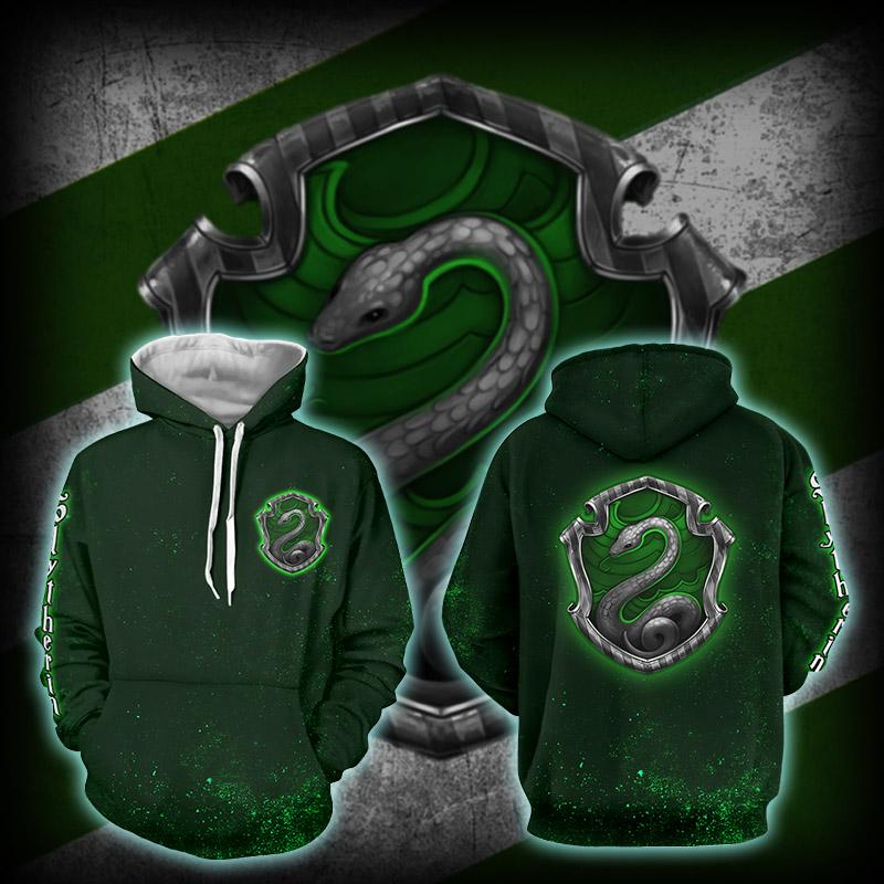 Slytherin Logo (Harry Potter) 3D Hoodie