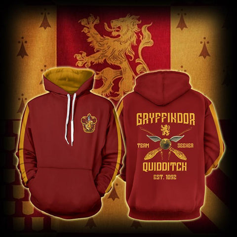 Image of Gryffindor Quidditch Team Harry Potter Hoodie