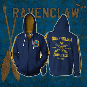 Ravenclaw Quidditch Team Est 1092 Harry Potter Zip Up Hoodie