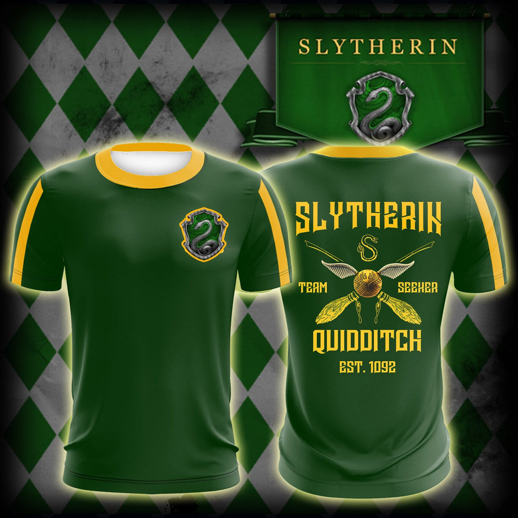 Slytherin Quidditch Team Est 1092 Harry Potter Unisex 3D T-shirt