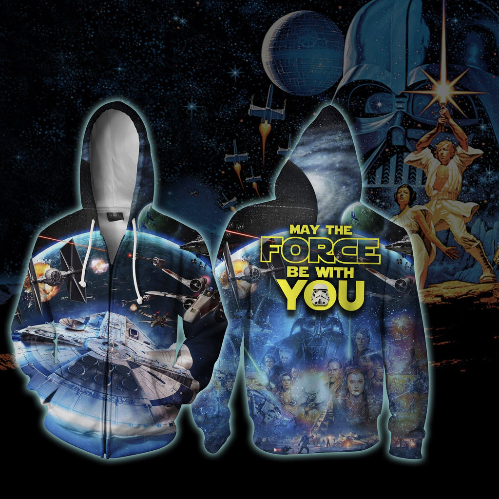 Star Wars May The Force Be With You Zip Up Hoodie