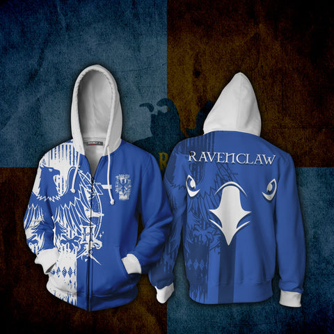 Image of Quidditch Ravenclaw Harry Potter Zip Up Hoodie