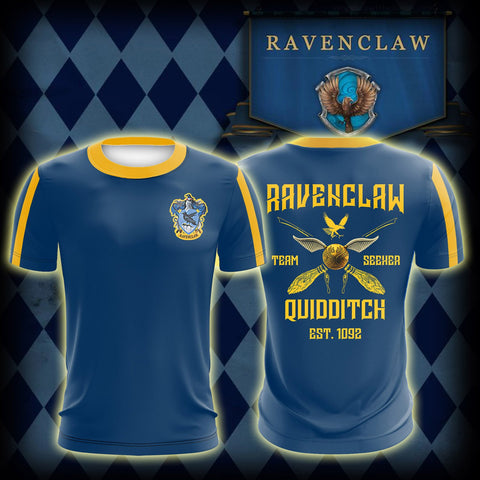 Ravenclaw Quidditch Team Harry Potter Unisex 3D T-shirt