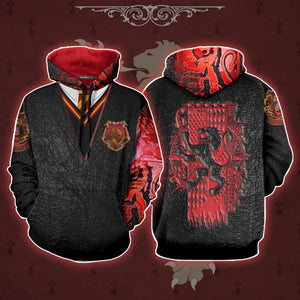 The Gryffindor Lion Harry Potter 3D Hoodie