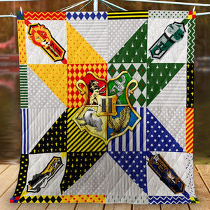 Hogwarts House Logo Harry Potter 3D Quilt