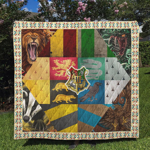 Hogwarts Logo Harry Potter 3D Quilt