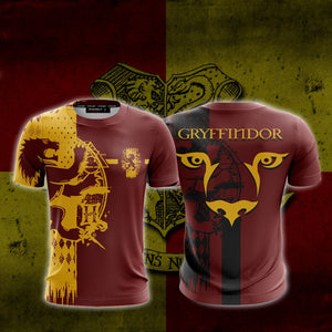 Quidditch Gryffindor Harry Potter New Look Unisex 3D T-shirt