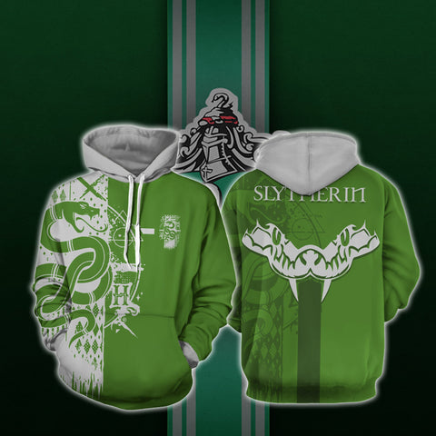 Image of Quidditch Slytherin Harry Potter 3D Hoodie