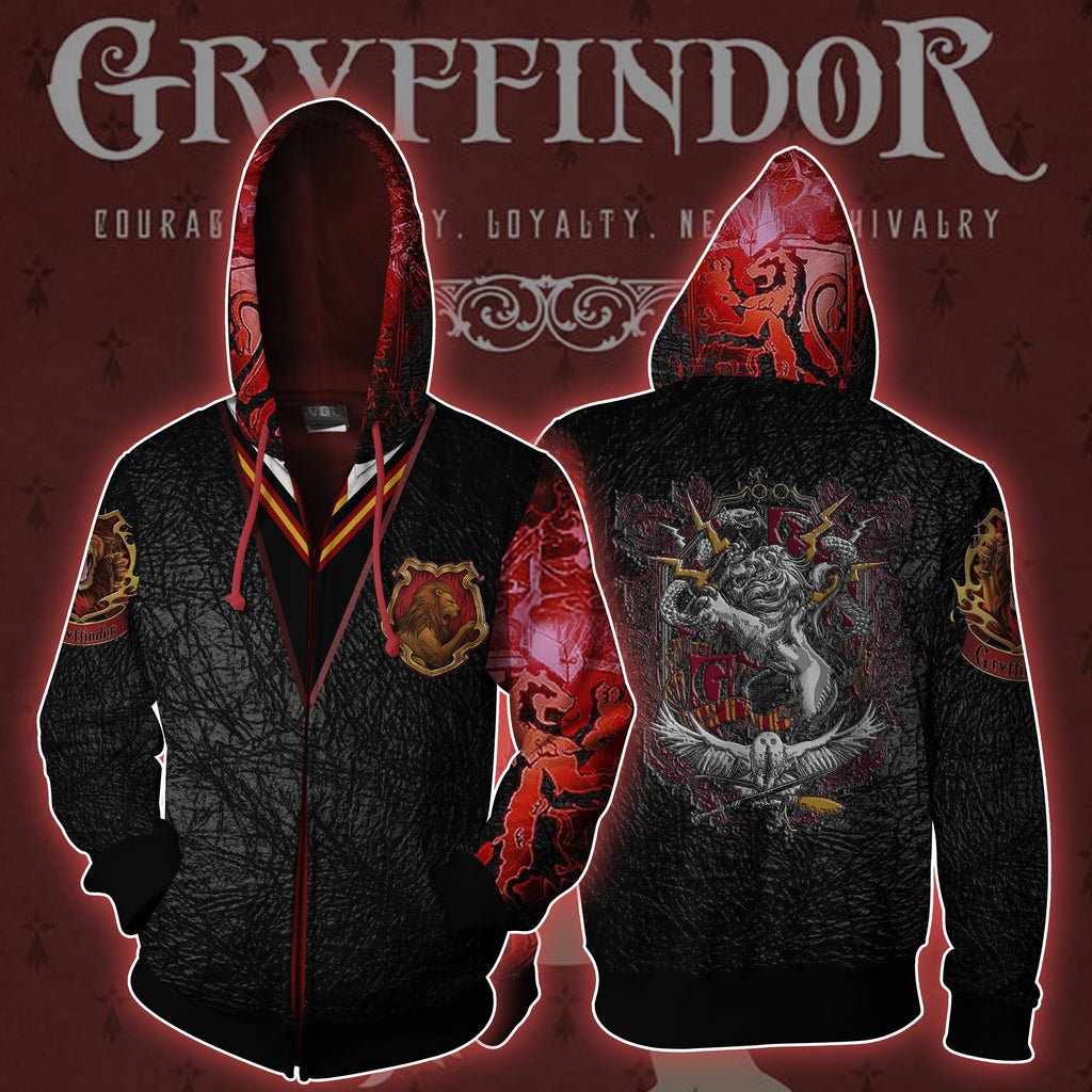 The Gryffindor Lion Harry Potter Zip Up Hoodie