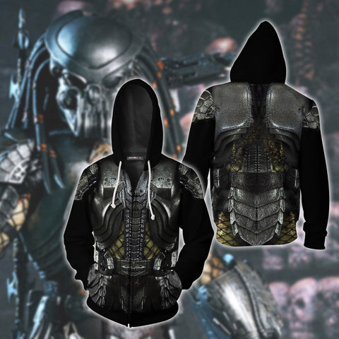 Image of Predator Cosplay Zip Up Hoodie Jacket