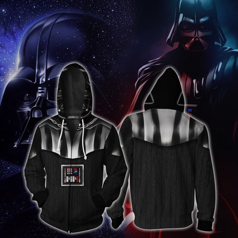Darth Vader Cosplay (Anakin Skywalker) Star Wars Zip Up Hoodie Jacket
