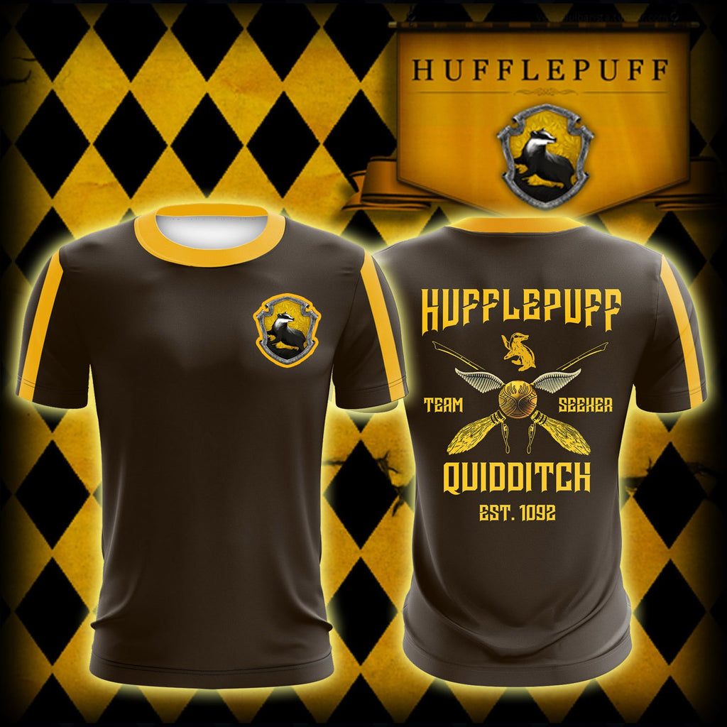 Hufflepuff Quidditch Team Est 1092 Harry Potter Unisex 3D T-shirt