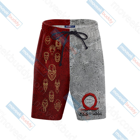 Image of God Of War Symbol New Look Unisex Beach Shorts