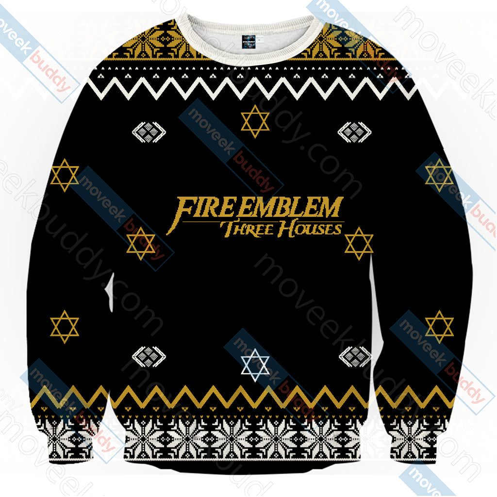 Fire Emblem - Three Houses The Golden Deer Christmas Style Unisex 3D Sweater