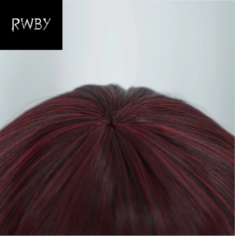 Image of RWBY Ruby Rose Wig Short Red Straight Hair Cosplay