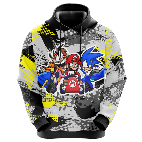 Crash Bandicoot x Mario x Sonic The Hedgehog Unisex 3D Hoodie