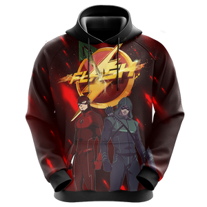 Arrow and Flash New Unisex 3D Hoodie