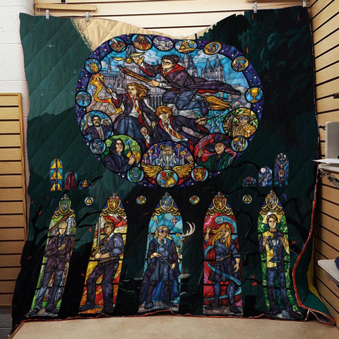 Stained Glass Harry Potter 3D Quilt Blanket