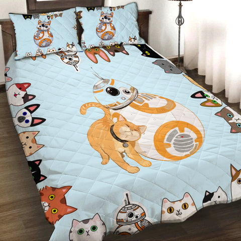 Star wars and cats 3D Quilt Set