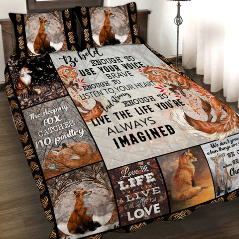 Image of Fox Quilt Bed Set