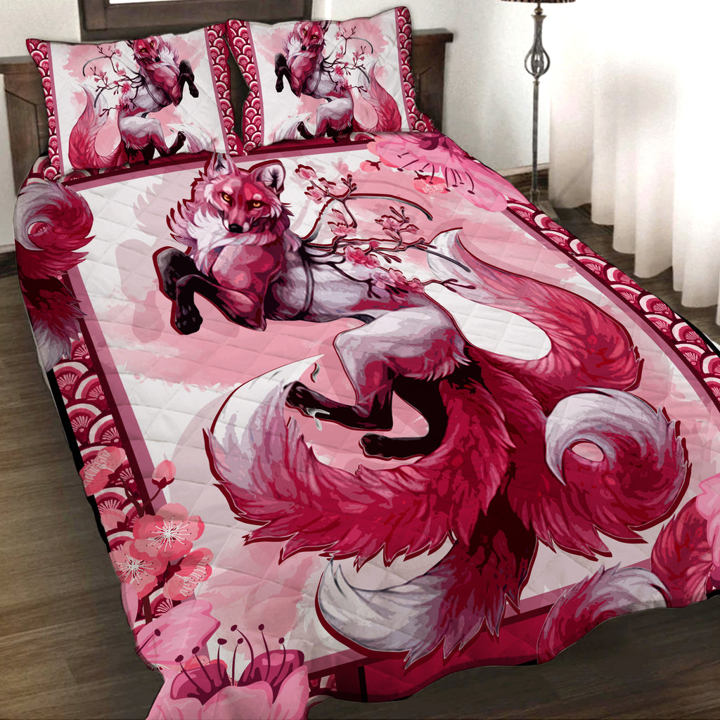 Sakura Fox 3D Quilt Set