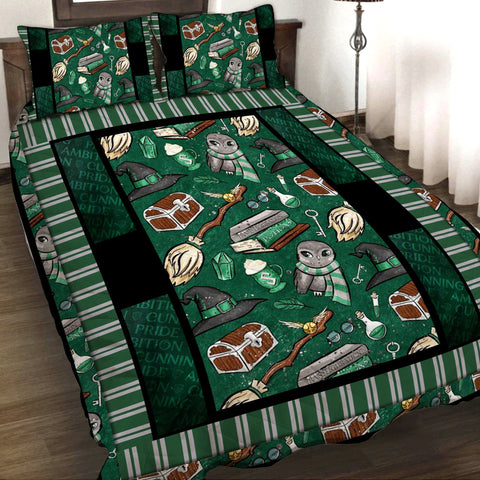 Harry Potter Slytherin 3D Quilt Set
