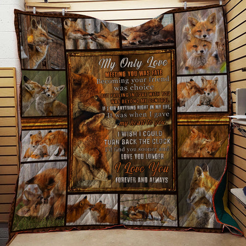 Couple Fox Quilt - My only love, meeting you was a fate. I love you forever and always