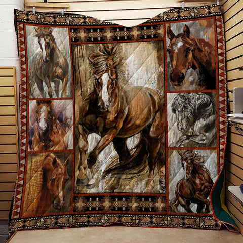 Image of Horse Lovers 3D Quilt Bed Set
