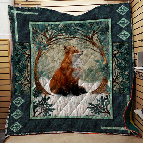 Image of Forest Fox 3D Quilt Set