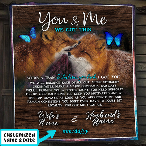 You And Me - Customized Name 3D Quilt Bed Set