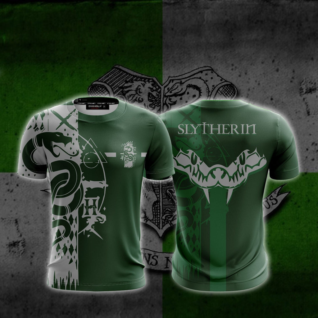 Quidditch Slytherin Harry Potter New Look Unisex 3D T-shirt