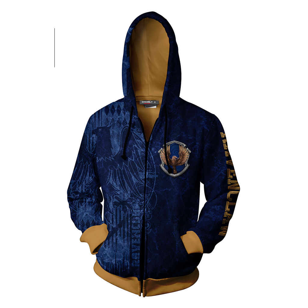 The Wise Ravenclaw Harry Potter New Zip Up Hoodie