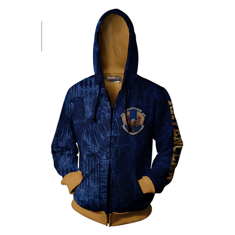 Image of The Wise Ravenclaw Harry Potter New Zip Up Hoodie