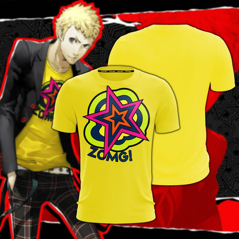 Image of Persona 5 Akira Kurusu Cosplay New Look Unisex 3D T-shirt