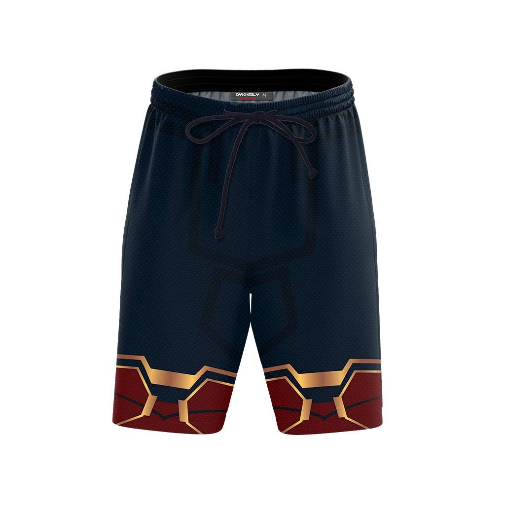 Spider-man: Homecoming Iron Spider Cosplay Beach Short