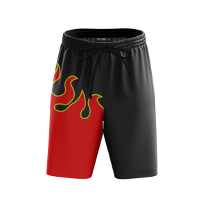 Tekken Jin Kazama Red Flame Cosplay Beach Shorts