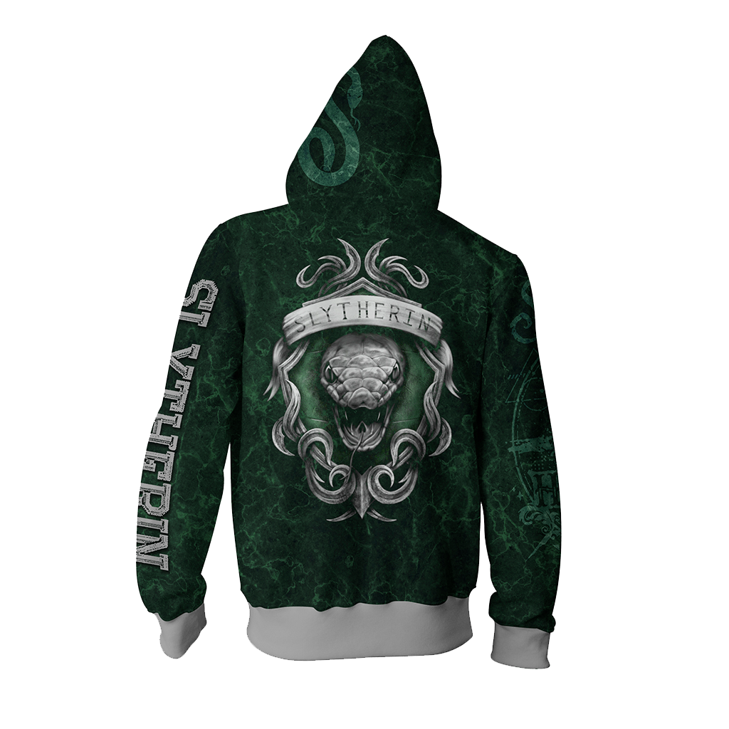 The Cunning Slytherin Harry Potter New Zip Up Hoodie
