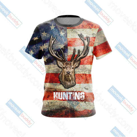 Image of Hunting Us Flag Unisex 3D T-shirt