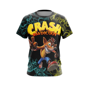 Crash Bandicoot New Unisex 3D T-shirt