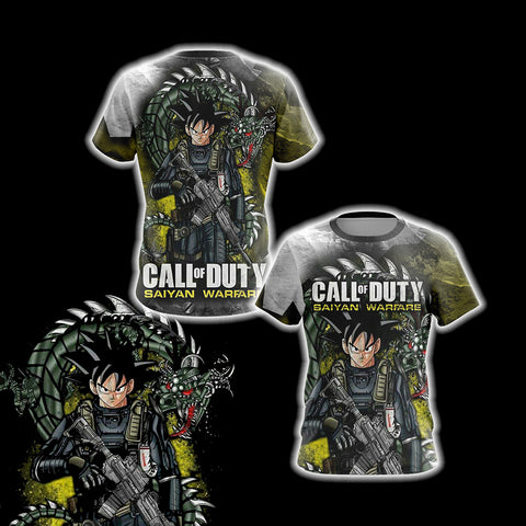 Image of Call of Duty Game - Goku Unisex 3D T-shirt
