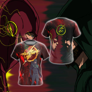 Arrow and Flash New Unisex 3D T-shirt