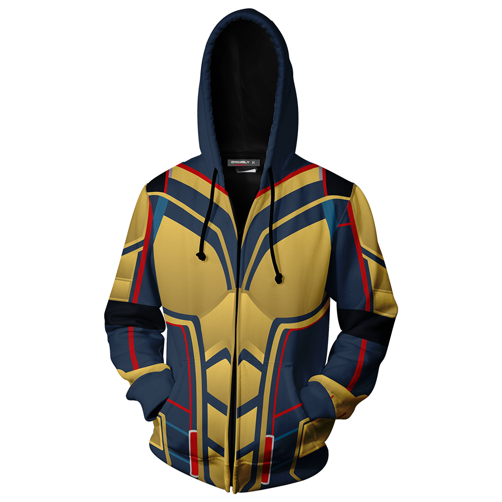 The Wasp Cosplay Zip Up Hoodie Jacket