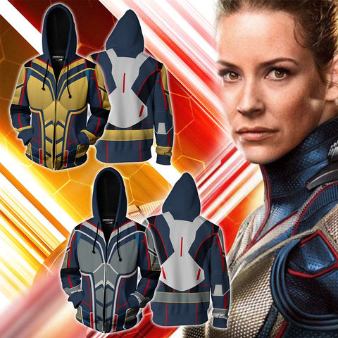 Image of The Wasp (Janet Van Dyne) Cosplay Zip Up Hoodie Jacket
