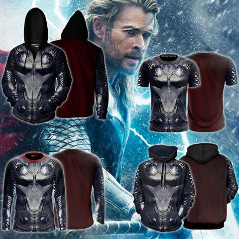 Image of Thor Cosplay Zip Up Hoodie Jacket
