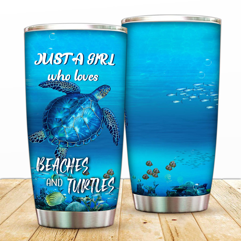 Just A Girl Who Loves Beaches and Turtles Tumbler