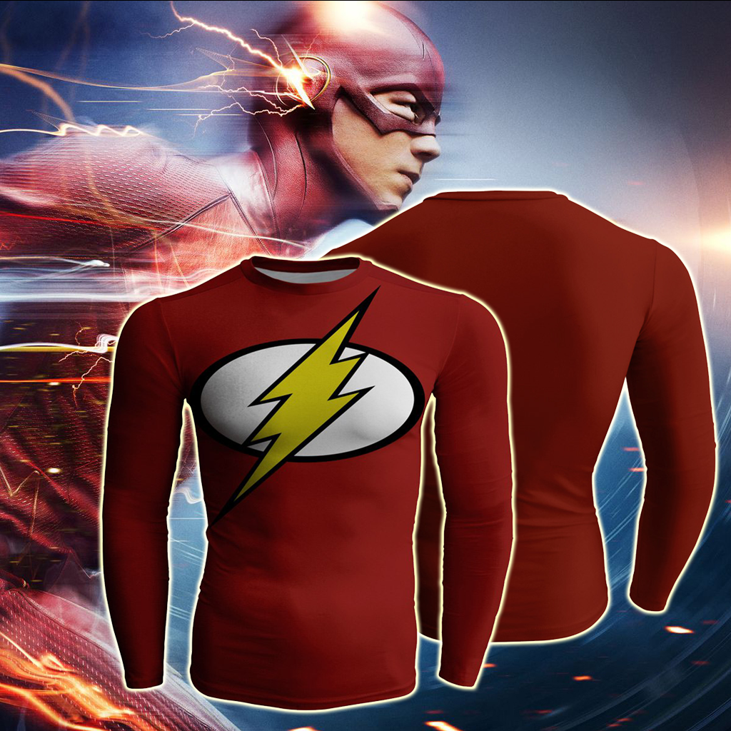 The Flashman Cosplay Long Sleeve Compression T-shirt