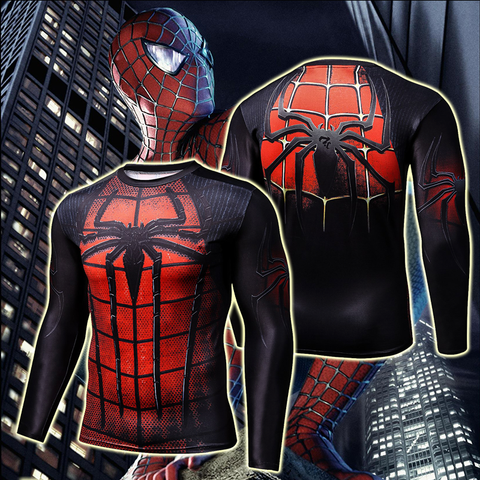 Image of Spider-Man PS3 Cosplay Long Sleeve Compression T-shirt