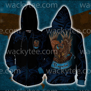 Wise Like A Ravenclaw Harry Potter Zip Up Hoodie